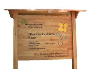 Schild für Vereinsheim