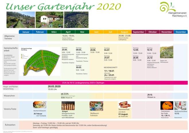 Gartenjahr 2020
